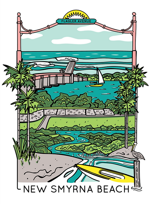 New Smyrna Beach Screen Print (Limited Edition)