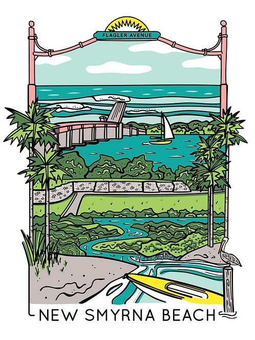 Pre-Order New Smyrna Beach Screen Print (Limited Edition)