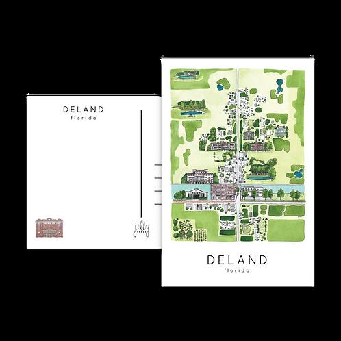 DeLand Aerial Postcard