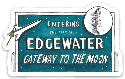 Edgewater Gateway to the Moon Sticker