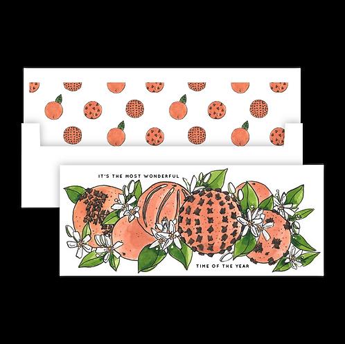 Citrus Pomander Holiday Card