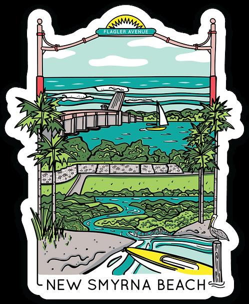 New Smyrna Beach Flagler Ave Travel Sticker