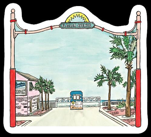Flagler Avenue Sticker