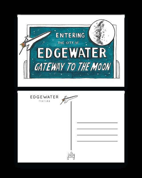 Edgewater Gateway to the Moon Postcard
