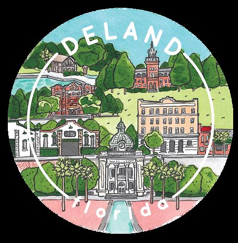 DeLand Travel Sticker