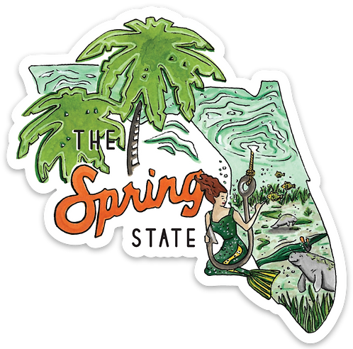 The Spring State Florida Sticker