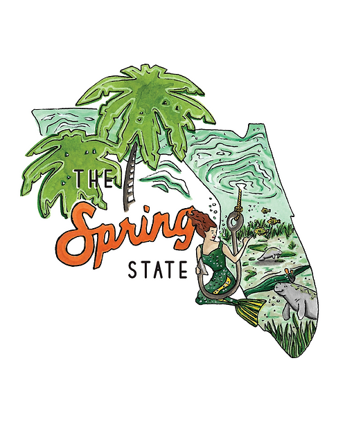 The Spring State Florida Print