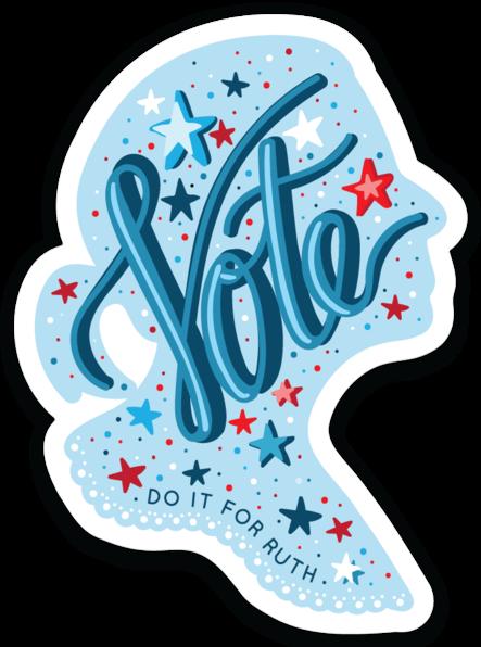 RBG Vote Sticker