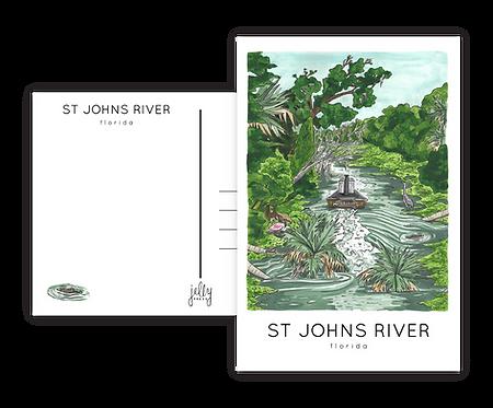 St. Johns River Postcard
