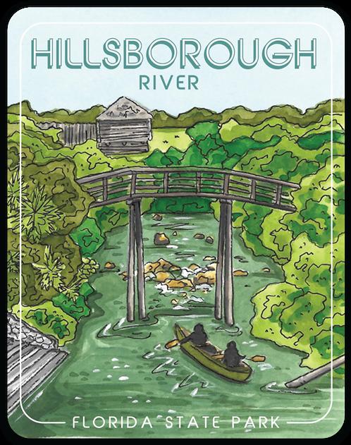 Hillsborough Florida State Park Sticker