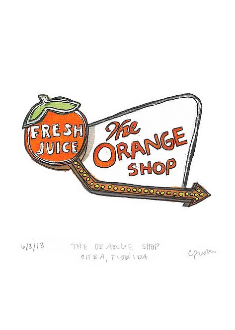 The Orange Shop Original Painting