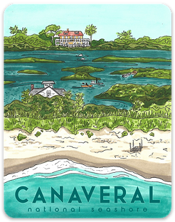 Canaveral National Seashore Sticker