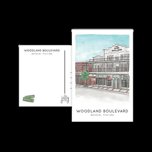 Woodland Boulevard Postcard