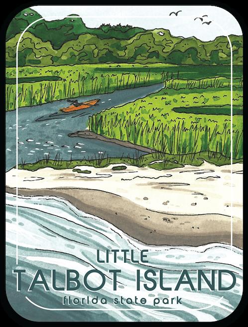 Little Talbot Island Florida State Park Sticker