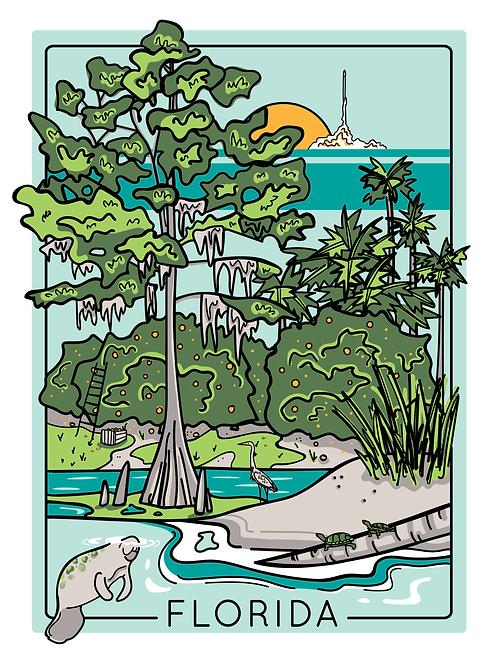 Florida Screen Print (Limited Edition)