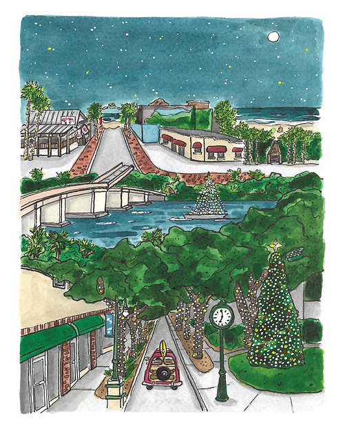 There's No Place Like New Smyrna Beach for the Holidays Print