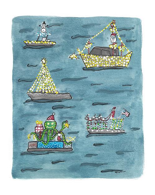 New Smyrna Beach Boat Parade Original Painting