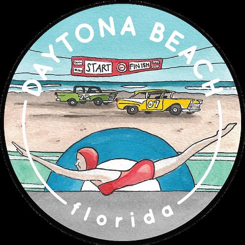 Daytona Beach Travel Sticker