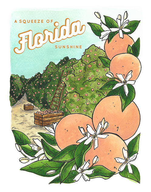 A Squeeze of Florida Sunshine Print