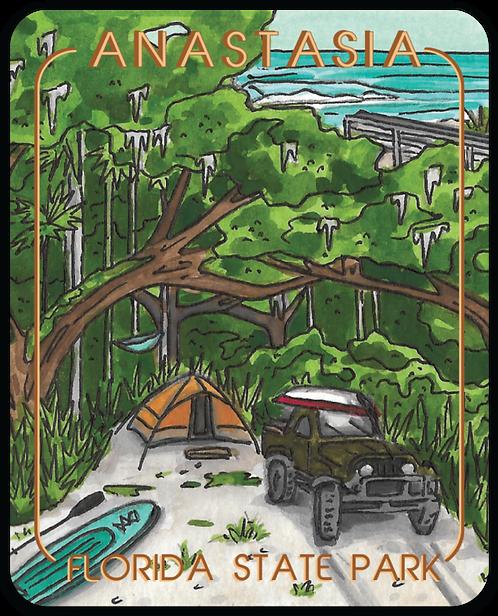 Anastasia Florida State Park Sticker