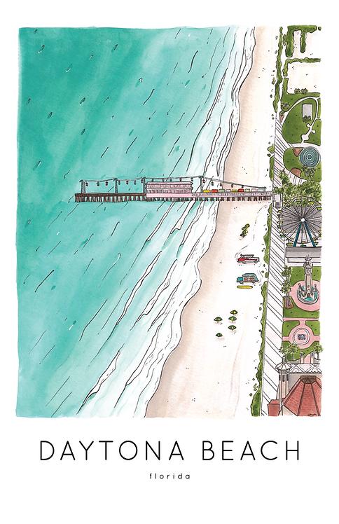 Daytona Beach Print
