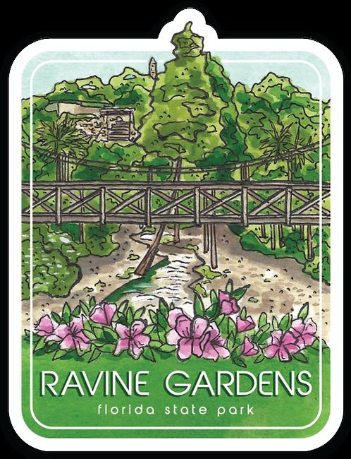 Ravine Gardens Florida State Park Sticker