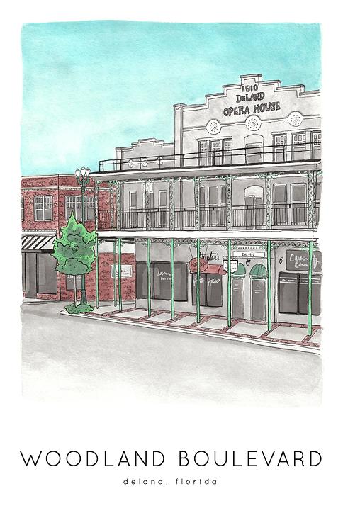 Woodland Boulevard Print