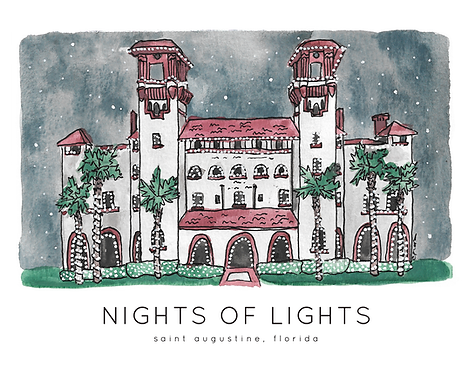 Nights of Lights, Lightner Museum Print