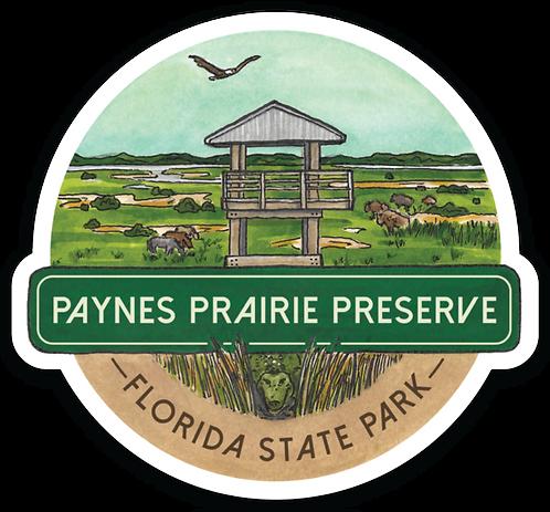 Paynes Prairie Preserve Florida State Park Sticker
