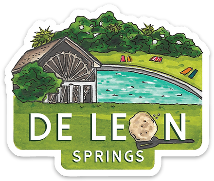 De Leon Springs Florida State Park Sticker