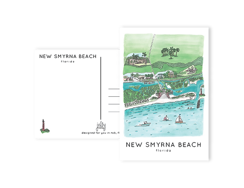 New Smyrna Beach Aerial Postcard