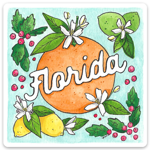 Florida Flora Sticker