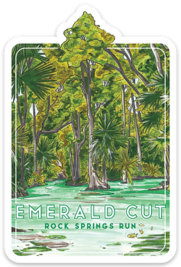 Emerald Cut at Rock Springs Run Sticker
