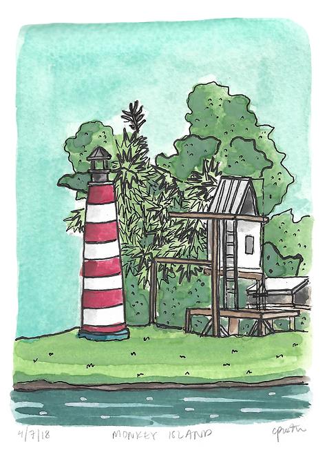 Monkey Island Original Painting
