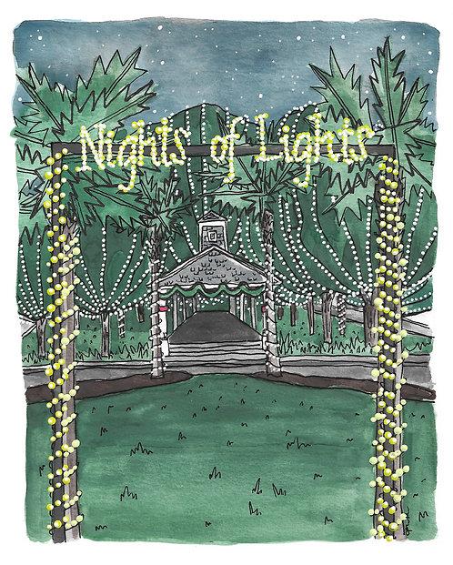 Nights of Lights Original painting