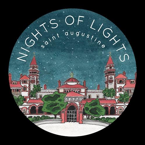 Nights of Lights Sticker