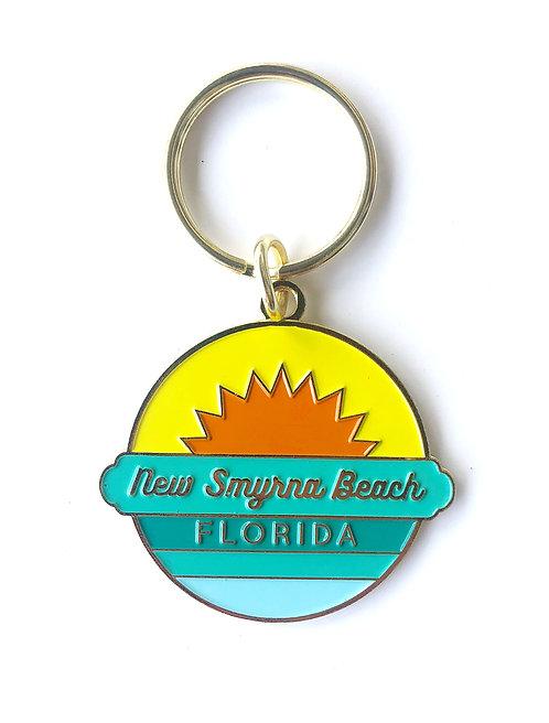New Smyrna Beach Enamel Keychain