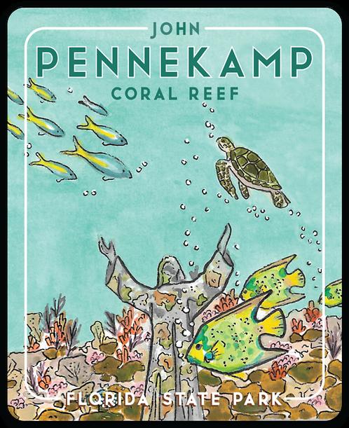 John Pennekamp Coral Reef Florida State Park Sticker