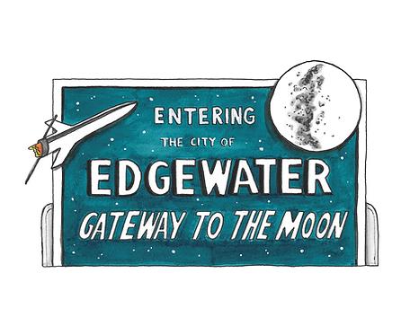 Edgewater Gateway to the Moon Print