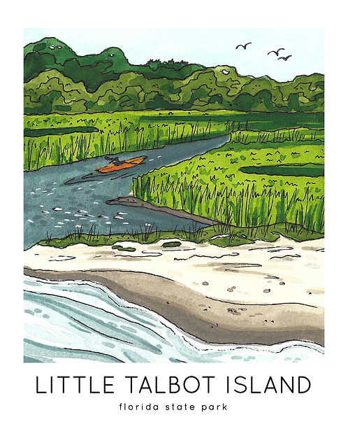 Little Talbot Island Florida State Park Print