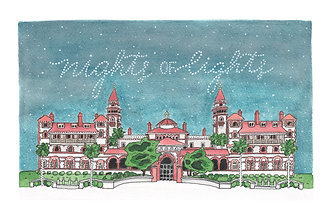 Flagler College Nights of Lights Original painting