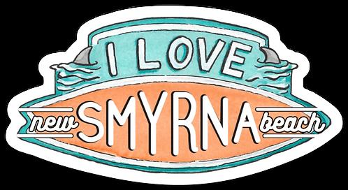 I Love New Smyrna Beach Sticker