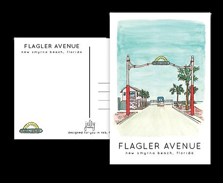 Flagler Avenue Postcard