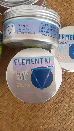 Water / Restore      Elemental herbal Bath Salts
