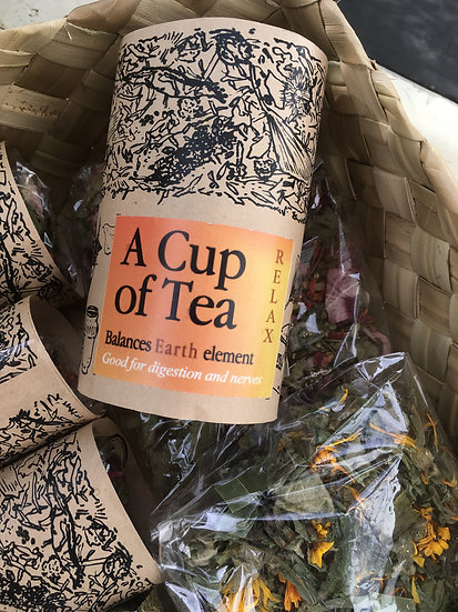 RELAX: A cup of Tea to balance the EARTH element