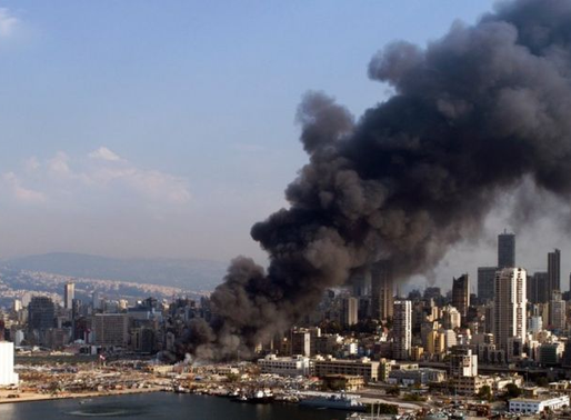 Massive Fire Erupts in Beirut Port a Month After Port Explosions