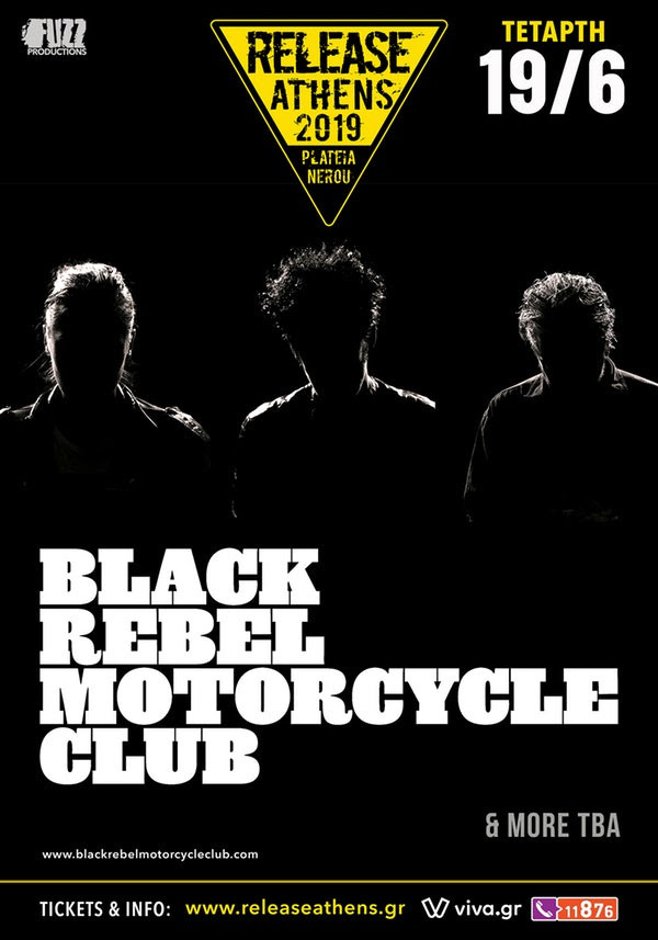 wave 97.4 Black Rebel Motorcycle Club Release Athens 2019