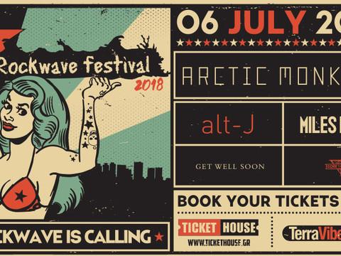 Rockwave Festival Arctic Monkeys / Αlt-J / Miles Kane