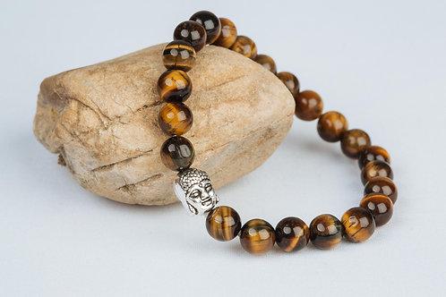 Bracelet «Courage de Bouddha» - Oeil de Tigre
