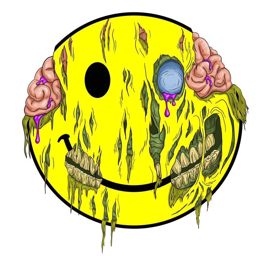 Happy Zombie Face sm